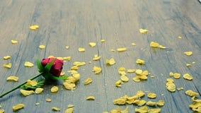 Cornflakes zboże spada na drewnianym zbiory wideo
