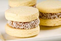 Cornflour cookies closeup Royalty Free Stock Photos
