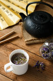 Cornflower με τη σούπα τσαγιού Στοκ Φωτογραφίες