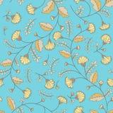Cornflower pattern. Vector seamless texture Stock Photo