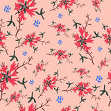 Cornflower vector pattern for textile, background, cover, fabric, top. Royalty Free Stock Photo