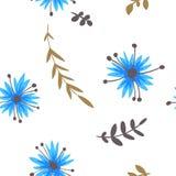 cornflowers картина безшовная Стоковые Изображения RF