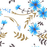 cornflowers картина безшовная Стоковая Фотография