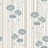 Cornflowers pattern. Seamless pattern with cornflowers; art nouveau style Royalty Free Stock Photo