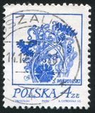 Cornflowers. POLAND - CIRCA 1974: stamp printed by Poland, shows Cornflowers, circa 1974 stock photo