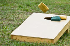 Cornhole game Bag Toss  Royalty Free Stock Photo