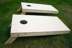Cornhole-Bretter auf Gras Lizenzfreies Stockbild