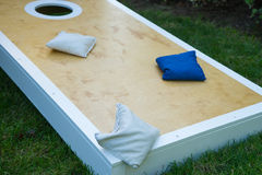 Cornhole Game Board Close-Up stock photography