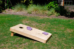 Cornhole Yard Games at Wedding royalty free stock photos