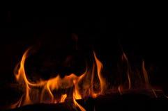 Corni arancio astratti del fuoco Immagine Stock