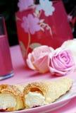 Corni crema Fotografie Stock