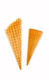 Corni per gelato Fotografie Stock