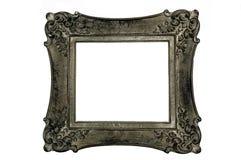 Cornice antica, quadrato, colore grigio scuro Fotografia Stock