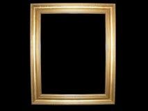 Cornice in bianco dell'oro Fotografia Stock