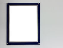 Cornice blu Fotografia Stock