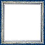 Cornice d'annata blu di legno fotografia stock libera da diritti