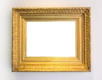 Cornice d'annata dell'oro Art Gallery Museum White Clipping Pat fotografie stock libere da diritti
