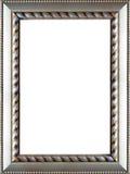 Cornice d'argento decorata Immagini Stock Libere da Diritti