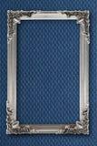 Cornice d'argento su fondo con gli effetti Immagine Stock Libera da Diritti