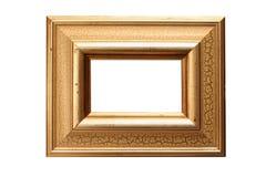 Cornice del foglio di oro Fotografie Stock Libere da Diritti