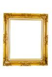 Cornice dell'oro. Isolato Fotografie Stock Libere da Diritti
