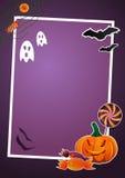 Cornice di Halloween Fotografie Stock Libere da Diritti