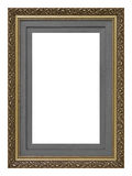 Cornice di legno dell'oro dell'annata fotografie stock
