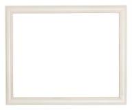 Cornice di legno dipinta bianco semplice Immagini Stock