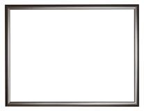 Cornice di legno piana semplice nera stretta Fotografia Stock Libera da Diritti