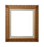 Cornice di legno placcata oro Fotografia Stock