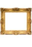 Cornice di legno placcata oro con il percorso (cubico) Fotografie Stock Libere da Diritti