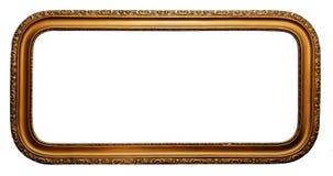 Cornice di legno placcata oro largo Fotografia Stock Libera da Diritti