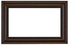Cornice di legno su bianco Fotografie Stock Libere da Diritti