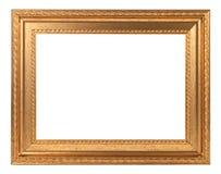 Cornice di legno verniciata oro Immagini Stock Libere da Diritti