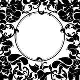 Cornice di testo floreale di lusso del black&white Fotografia Stock