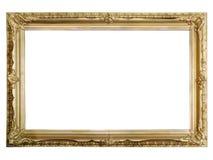 Cornice dorata antica fotografie stock