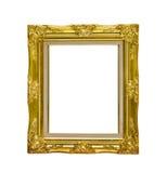 Cornice dorata antica isolata su fondo bianco, clippi Fotografia Stock