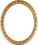 Cornice dorata ovale Fotografia Stock