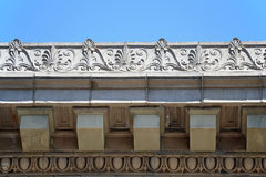 Cornice. The intricate and artistic cornice of a building Stock Image
