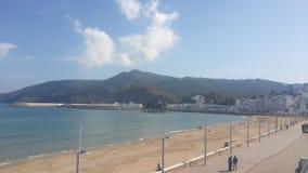 The cornice M`diq city ,morocco. The Cornice M diq,sea and mountain and beach , morocco stock photography
