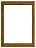 Cornice marrone semplice fotografia stock