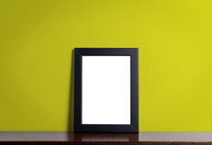 Cornice moderna nera su giallo Immagine Stock Libera da Diritti