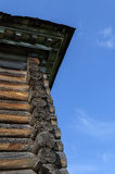 Cornice of old wooden house Stock Photography