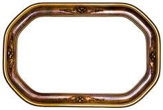Cornice ovale antica Immagini Stock