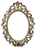 Cornice ovale decorativa fotografie stock libere da diritti