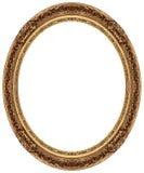 Cornice ovale dell'oro Fotografia Stock
