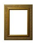 Cornice quadrata dorata Fotografia Stock