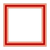 Cornice rossa d'annata Fotografia Stock