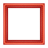 Cornice rossa d'annata Fotografia Stock Libera da Diritti