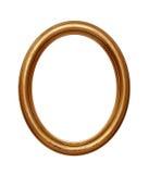 Cornice rotonda ovale dorata d'annata fotografia stock libera da diritti